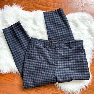 Theory Buffalo Plaid Wool Dress Pants Size 6